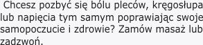 Masaz Leczniczy Warszawa